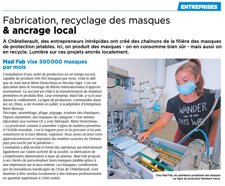 Masque jetable fait en France